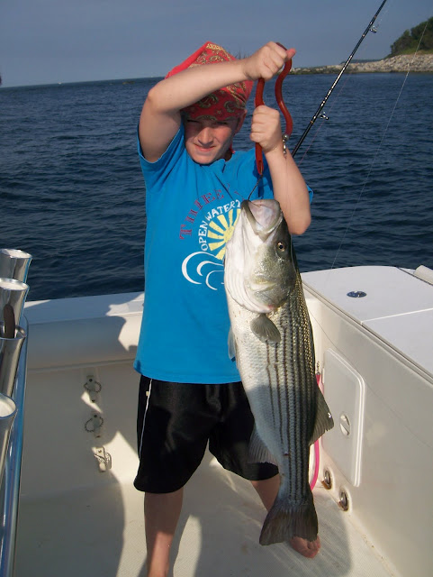 Striped bass 28 for Port jefferson fishing
